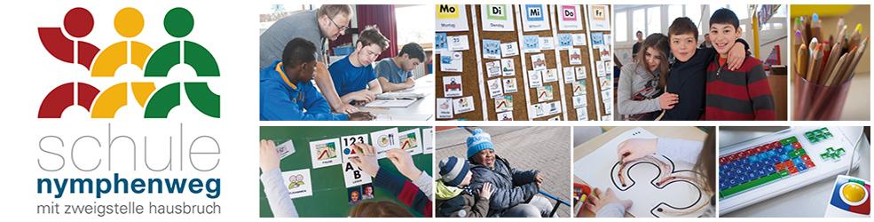 Webseite der Schule Nymphenweg - Schule mit dem Förderschwerpunkt geistig Entwicklung